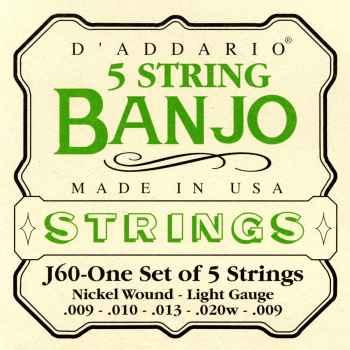 D´addario J60 5 para Banjo